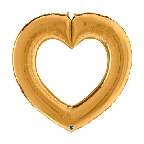 GOLD LINKY HEART 41""